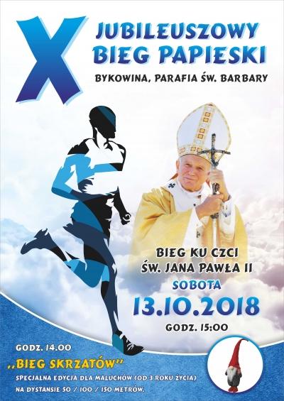Oficjalny plakat X Biegu Papieskiego